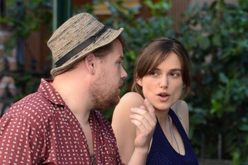 """Keira Knightley James Corden Stars Film """"Can a Song Save Your Life?"""" 2"""