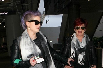 Kelly Osbourne Kelly and Sharon Osbourne at LAX