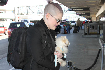 Kelly Osbourne Kelly Osbourne is Seen at LAX with Her Pooch