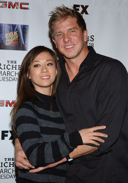 Kenny Johnson with cute, Wife Cathleen Oveson