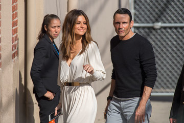 Keven Undergaro Maria Menounos Arrives at 'Jimmy Kimmel Live'
