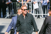 Kevin Costner is seen arriving at 'Jimmy Kimmel Live' in Los Angeles, California.