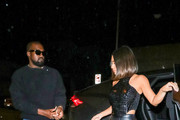 Kim Kardashian and Kanye West are seen in Los Angeles, California.