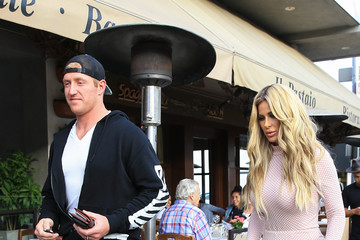 Kim Zolciak Kroy Biermann and Kim Zolciak Are Seen Leaving a LA Restaurant