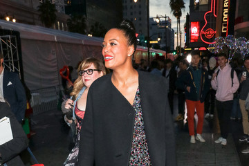 Kirsten Vangsness Aisha Tyler And Kirsten Vangsness Are Seen Outside The 'Captain Marvel' Premiere At Dolby Theatre