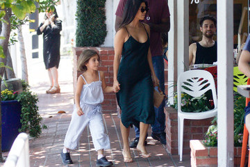 Kourtney Kardashian Kourtney Kardashian And Daughter Penelope Disick In Los Angeles On July 12, 2019