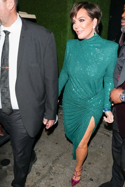 Kris Jenner Outside Warwick Nightclub In Hollywood