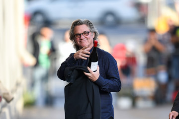 Kurt Russell Celebs Visit 'Jimmy Kimmel Live' On November 13
