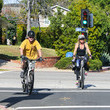 Kurt Russell Kurt Russell And Goldie Hawn Ride Bikes In L.A.