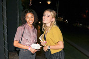 Kylee Russell and Meg Donnelly are seen in Los Angeles, California.