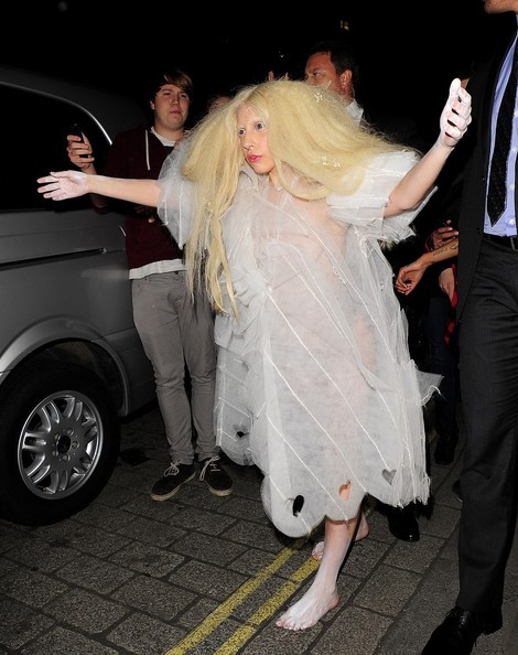 Lady Gaga - Lady Gaga Debuts Another Quirky Outfit
