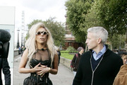 Lady Gaga does her very first interview with Anderson Cooper for her new album 'Born This Way' at the Embankment in Vauxhall.