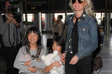 Laeticia Hallyday Laeticia Hallyday and Family at LAX