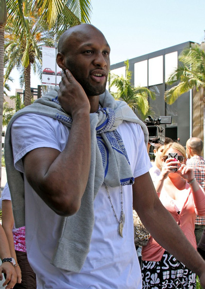 "Lamar Odom Kim Kardashian and her mom, Kris Jenner film scenes for their show ""Keeping Up with the Kardashians"". Kim is accompanied by her fiance, Kris Humphries, and later meets up with Scott Disick, and her brother-in-law, Lamar Odom."