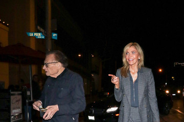 Larry King Larry King And Shawn King Are Seen Outside Craig's Restaurant