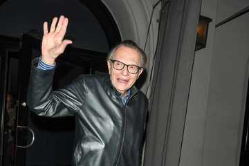 Larry King Larry King Is Seen Outside Craig's Restaurant