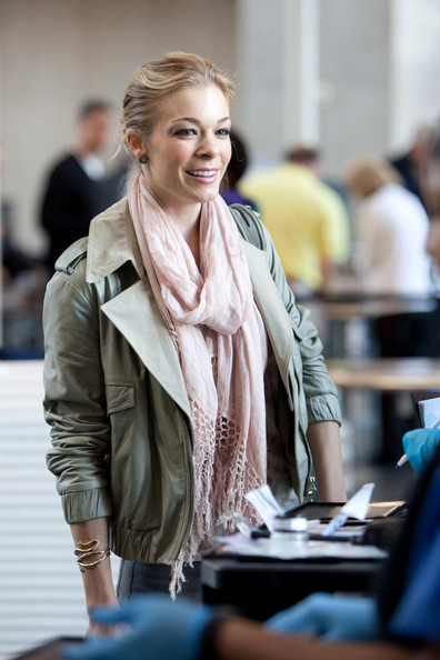 LeAnn Rimes LeAnn Rimes prepares to depart LAX (Los Angeles International Airport) wearing a stylish outfit.