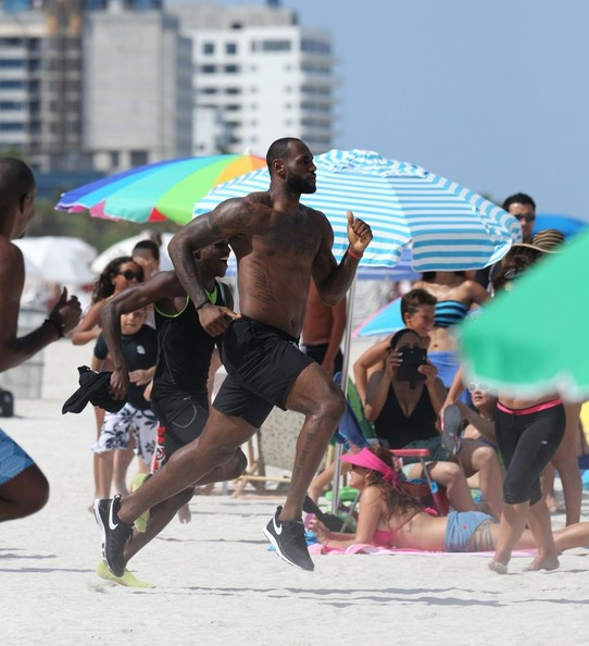 quality design ae595 39d66 LeBron James Films a Nike Commercial in Miami — Part 2