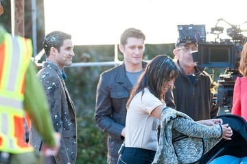 Lea Michele Scenes from the 'Glee' Set