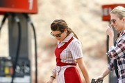 Lea Michele Films 'Sons of Anarchy'