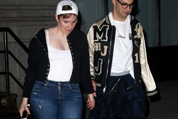Lena Dunham Lena Dunham and Jack Antonoff Leaving Taylor Swift's Home