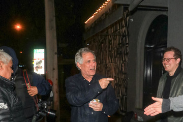 Leslie Moonves Leslie Moonves Is Seen Outside Craig's Restaurant In West Hollywood