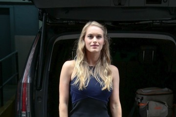 Leven Rambin Leven Rambin Takes Selfies With Fans in New York
