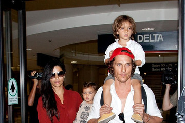 Levi Alves McConaughey Matthew McConaughey and Family at LAX