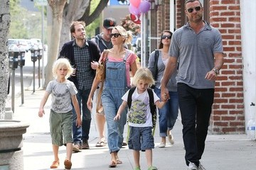 Liev Schreiber Naomi Watts and Family Out and About