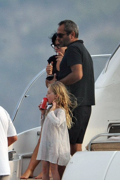 Kate Moss, Lila Grace, and Lily Allen on a Yacht