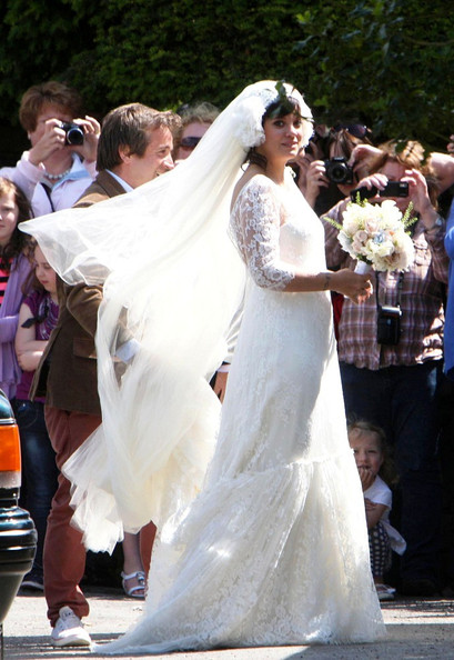Lily Allen Lily Allen and Sam Cooper are married at the St. James the Great Church.