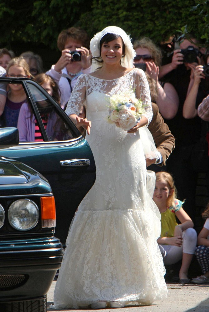 lily allen gets married zimbio