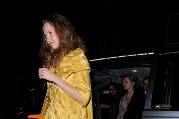 Lily Cole Lily Cole Arrives at Chiltern Firehouse