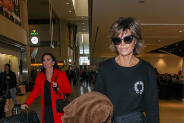Lisa Rinna Lisa Rinna And Kyle Richards Visit LAX