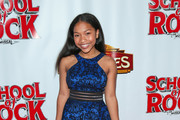 Laya DeLeon Hayes is seen attending the Los Angeles Premiere of 'School of Rock' The Musical at the Pantages Theatre in Los Angeles, California.