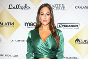 Ashley Graham is seen arrives at the Los Angeles Team Mentoring's 20th Annual Soiree at the Fairmont Miramar Hotel in Los Angeles, California.