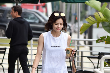 Lucy Hale Lucy Hale Goes on a Coffee Run in Los Angeles