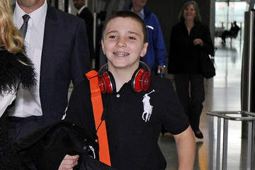 Rocco Ritchie Madonna and Kids Land at Heathrow