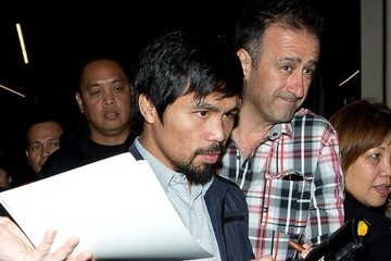 Manny Pacquiao Manny Pacquiao Arrives at LAX