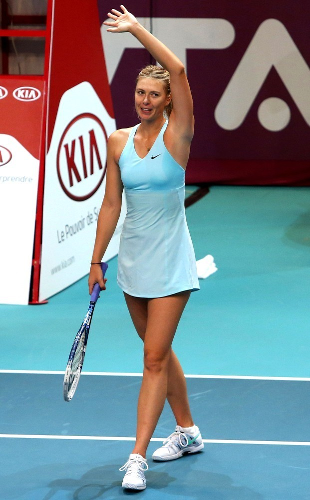 Maria Sharapova Photos Photos Maria Sharapova Wins In Paris Zimbio