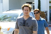 Mark Wahlberg Out with His Kids