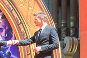 Jeremy Renner is seen attending the Hand and Footprint Ceremony at the TCL Chinese Theatre in Los Angeles, California.