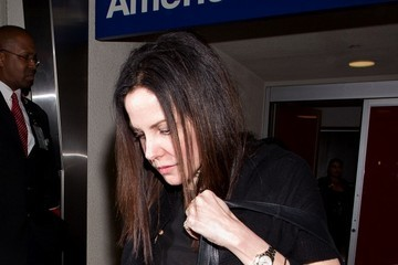 Mary-Louise Parker Mary-Louise Parker Arrives at LAX