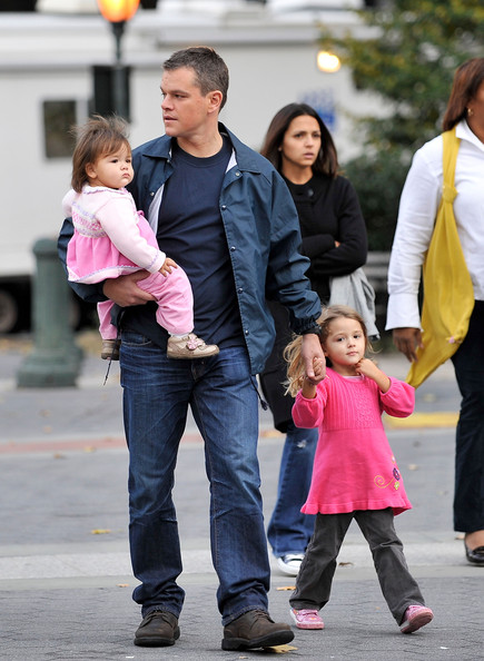 Matt Damon Daughters Matt Damon And Family