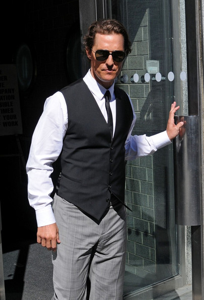 Matthew McConaughey Matthew McConaughey and Camila Alves leave an Upper West Side office building.