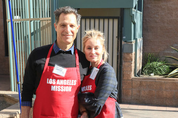 Maureen McCormick Maureen McCormick and Michael Cummings Outside of the Los Angeles Mission