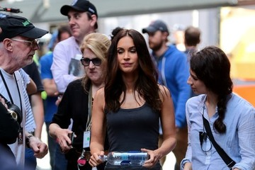 Megan Fox Megan Fox on the Set of 'TMNT 2'