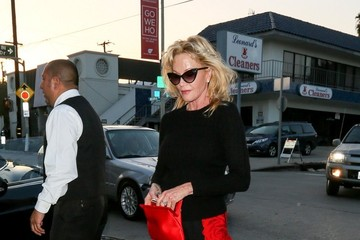 Melanie Griffith Celebrities Dine at Craig's Restaurant
