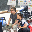 Meredith Salenger Patton Oswalt And Meredith Salenger At Farmers Market In Studio City