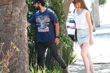 Mia Goth Shia LaBeouf and Mia Goth Out and About